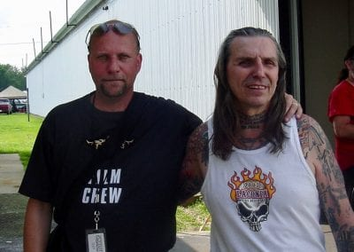 Myself and Indian Larry at the Horse Magazine Annual Chopperfest about 15 years ago.