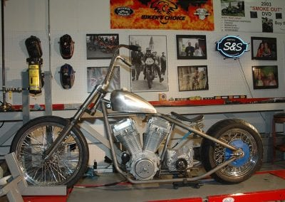 Bobber with springer fork. Built for a customer at the old shop where we used to be located.