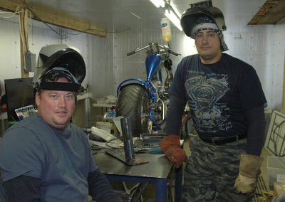 Guys in the welding class taking a break.